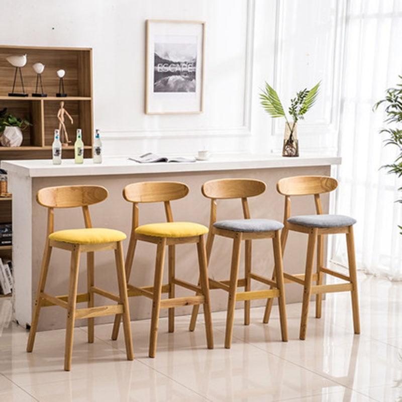 Bar Stools High Stool Bar Chair Seat Height 75 CM Fashion Simple Modern Colourful Leisure Creative Dining Chair Home Business