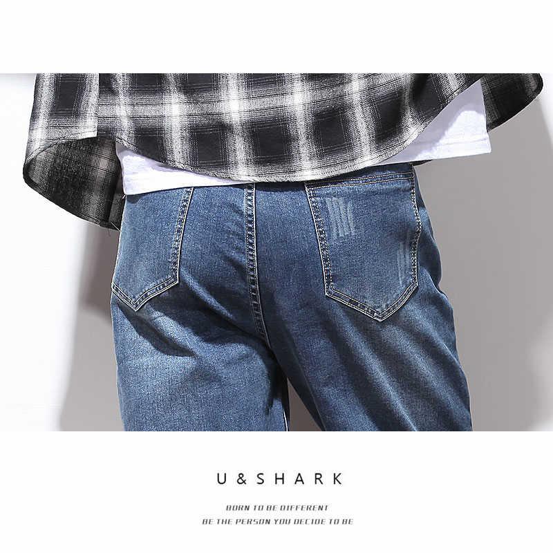 U & SHARK Jeans für Männer Regelmäßige Fit Hosen Klassische Jeans Männlichen Denim Jeans Designer Hosen Beiläufige Gerade Hosen Plus größe 29-48