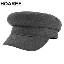 Hoaree женские шапки однотонная серая военная шапка осень зима