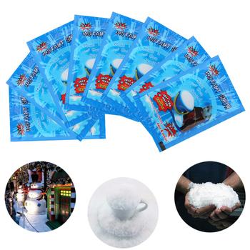 1 sztuk sztuczny śnieg natychmiastowy puszysty śnieg w proszku śnieżynka Super chłonny mrożona magia dekoracja na przyjęcie ślubne prezent na boże narodzenie tanie i dobre opinie Proszku śniegu Magic Fake Instant Snow As Picture Christmas Absorbent resin dropshipping