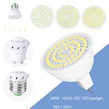 GU10 MR16 E27 LED Spotlight Bulb 2835 SMD 110V 220V Replace 35W Halogen Lamp  High Power LED Bulbs For Home office Lighting gx53 led spotlight lamp bulb 10w downlight ultra bright lights 110v 220v ce rohs replace 60w halogen lamp for home freeshipping