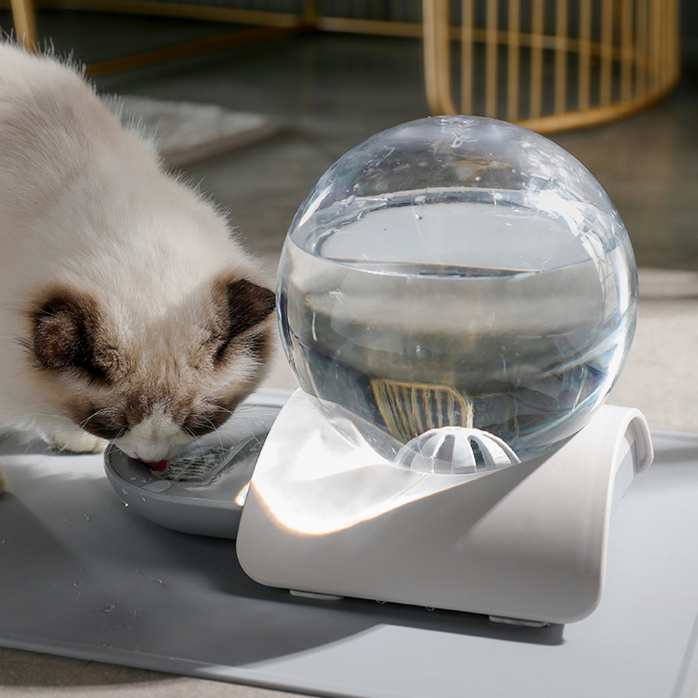 Pet Cat Dog Feeder Fountain Bubble Automatic Cats Water Fountain Large Drinking Bowl For Cat Pets Water Dispenser No Electricity