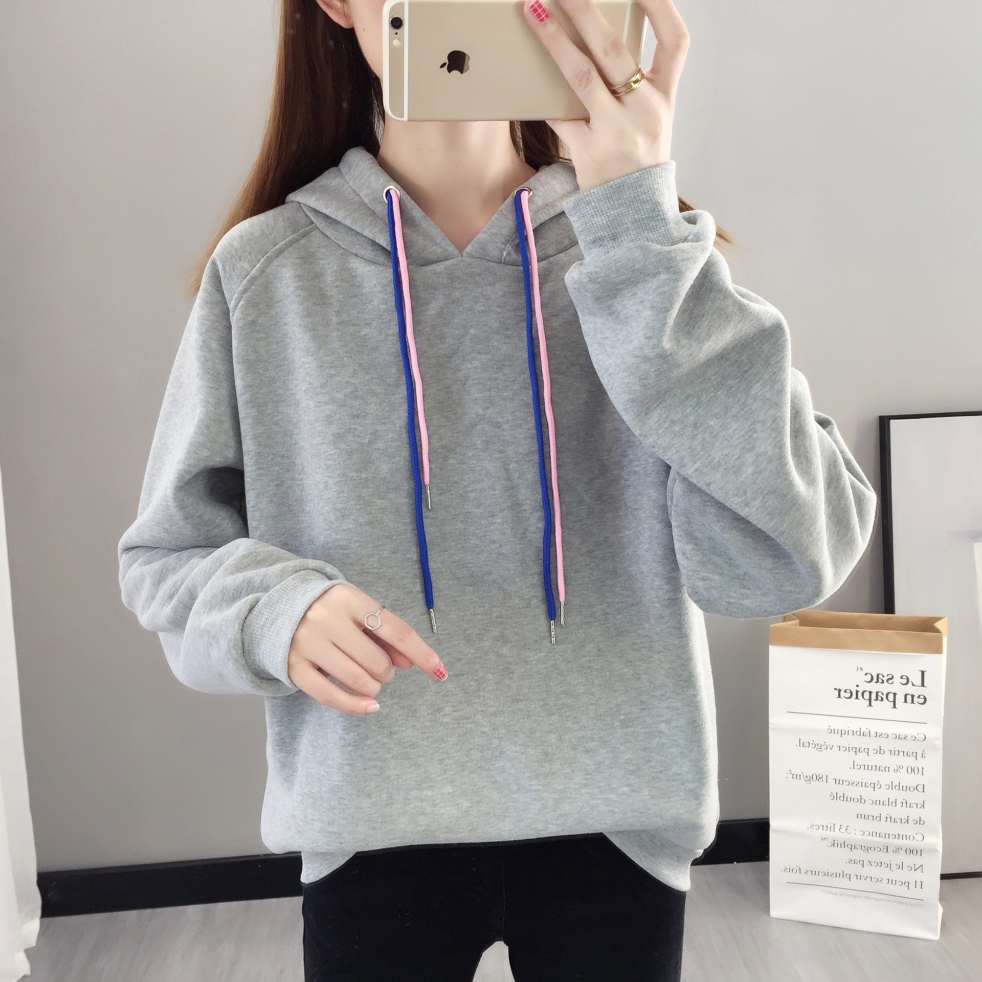Hoodie Casual Cute Longsleeve Sweatshirt Pullover With Ears M-XXL Ladies Top Sweatershirt