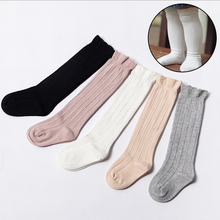 цены Autumn Baby kid socks for girls Newborn Toddler Knee High Lace Sock Long girls Cute Leg Warmers Fox Socks For Newborns Infantile