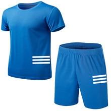 pçs/set terno da trilha dos homens ginásio de fitness badminton roupas esportivas correndo jogging esportiva bmw camiseta manga