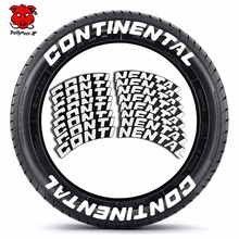 8PCS Car Tire Decals Car Tuning Personalized 3D PVC Joined Tire Decor Sticker Car Styling Personalized Car Wheel Decals Stickers