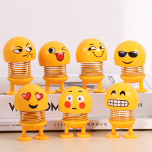 Car Decoration Spring Shaking Head Doll Child Toy Emoticon Car Decoration Shaking Head Doll Auto Interior Accessories недорого