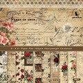 24 шт./лот Роза в стиле ретро, материальная бумага, «сделай сам», альбом для скрапбукинга, дневник, подарок, декоративная бумага, бумага для ск...