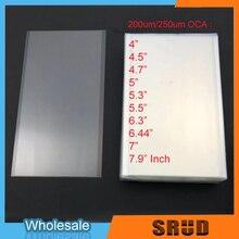 50 шт. 200um/250um универсальные размеры для Mitsubishi оптический прозрачный клей 4 4,5 4,7 5 5,3 5,5 6 6,3 6,44 7 7,9 дюймов ОСА