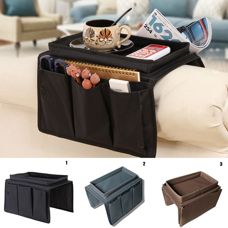 4 <font><b>Pockets</b></font> Storage Bag <font><b>Sofa</b></font> Handrail Couch Arm Rest Organizer Holder <font><b>Remote</b></font> Control Organizer Bag HYD88 image