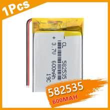 582535 3.7V 600mAh akumulator litowo polimerowa bateria lipo do zegarka GPS LED Light MP3 zabawka dvr film nawigacyjny rejestrator