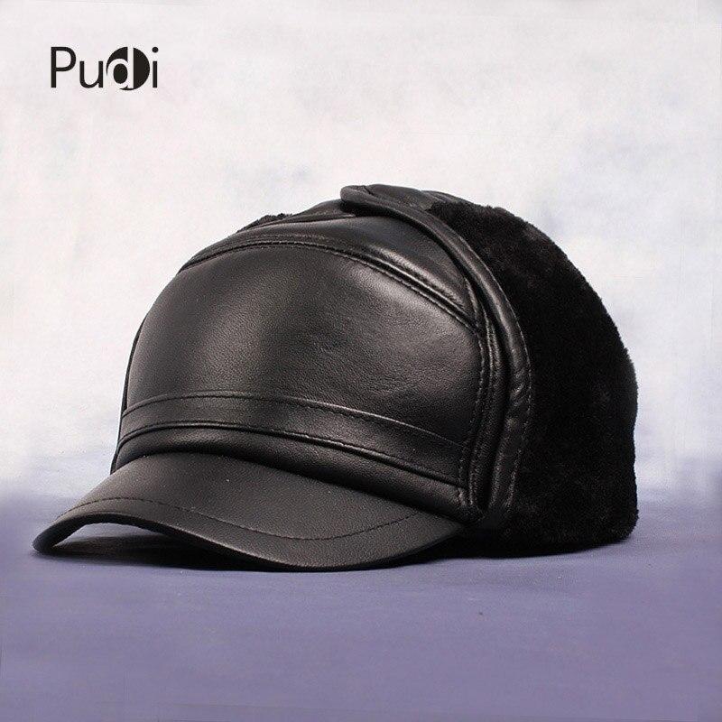 HL055 Kšiltovka ČERNÁ Čepice Kšiltovka EarFlap Hat Skull Russian Unisex čepice čepice zbrusu nová zimní teplá čepice kšiltovky