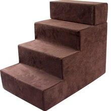 Лестница для питомца, для собаки, для скалолазания, маленькая лестница для котенка, для собаки, ступенчатая лестница для питомца, четырехслойная лестница для скалолазания, для собаки, лестница для скалолазания