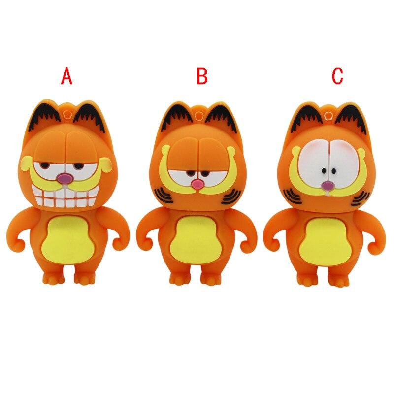 TEXT ME Cartoon  64GB  Cute  Garfield  USB Flash Drive 4GB 8GB 16GB 32GB Pendrive USB 2.0 Usb Stick