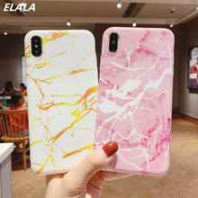ELALA Glitter Phone Case For iphone XR Marble Cover Dandelion Flower Feather Cute Soft Capa XS Max 6S 7 8Plus