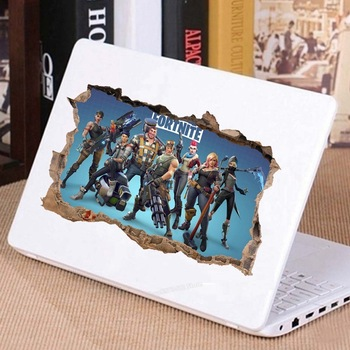 3D PVC Wall Stickers Fortnites Game Figure Tattered Frame Decals Art Kid Children Room Student Dormitory Decoration Laptop Decor 2