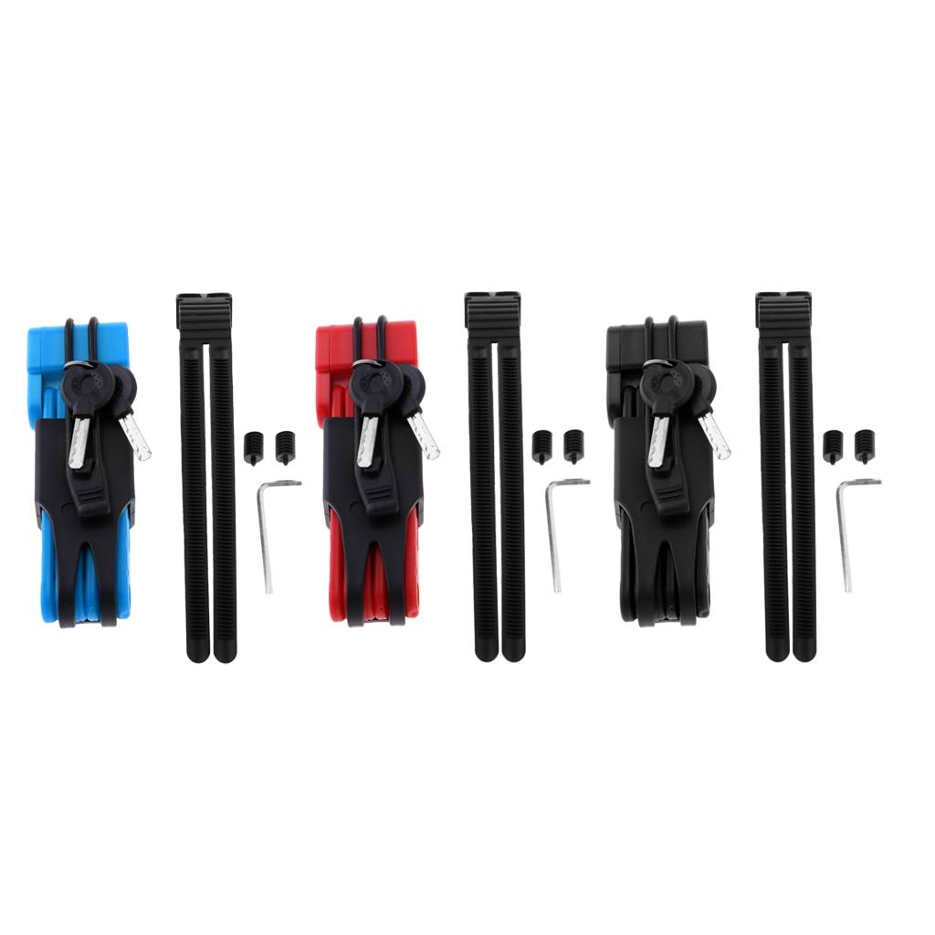 Folding Bike Lock  Heavy Duty Fold Bike Chain Lock with Mount Bracket Holder and 2 Keys for Motorcycle Gate Locking