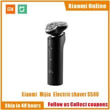 الأصلي شاومي Mijia ماكينة حلاقة كهربائية S500 فليكس الحلاقة رئيس 3 الجاف الرطب الحلاقة قابل للغسل الرئيسية الفرعية شفرة مزدوجة توربو وضع مريح