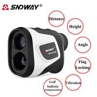 Sndway-telémetro láser Digital, telescopio Monocular de caza para telémetro de Golf, cinta métrica de ángulo, herramienta de medidor de distancia láser