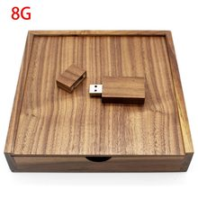 Kayu Walnut Photo Album Kotak USB Flash Drive 8 Gb 16GB 32GB 64GB Fotografi Pernikahan Perangkat Penyimpanan USB2.0 Memory Stick(China)