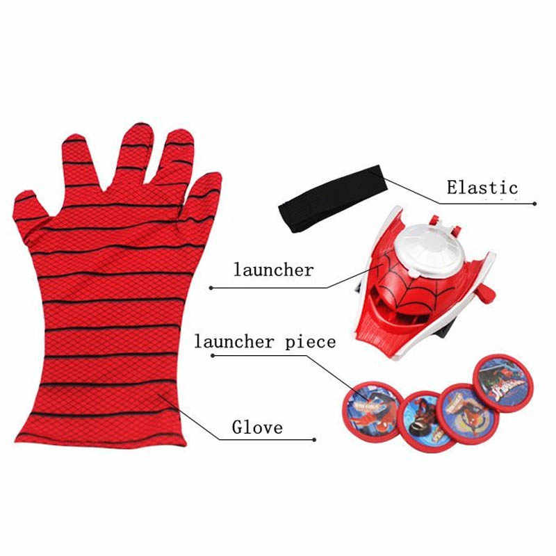 5 スタイル PVC 24 センチメートルバットマングローブアクションフィギュアスパイダーマンランチャーおもちゃ子供適切なスパイダーマンコスプレおもちゃ