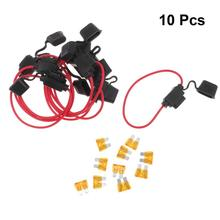 цена на 10pcs Fuse Holder Wire Harness Waterproof Small-Sized Insurance Cassette Holder Car Fuse Holder For Auto Car Vehicle Motor