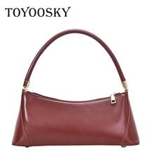 TOYOOSKY Vintage Baguette Bags Ins Hot Designer Women Handbags French Style Ladies Shouler Bag Fashion PU Leather