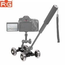 Mobile di Rotolamento Scorrevole Dolly Stabilizzatore Skater Cursore Fotocamera Magic Arm Ferroviario Del Basamento Fotografia Auto Per Canon Nikon GoPro 7 6