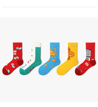 Explosion Models Overnight Rich 2019 Spring New Personality Socks Series Couples Fashion Lucky
