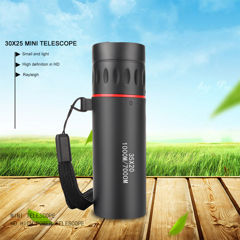 Outdoor Hiking 30x25 HD Mini Portable Focusing Telescope Telescope Optical Single Tube Concert Sightseeing