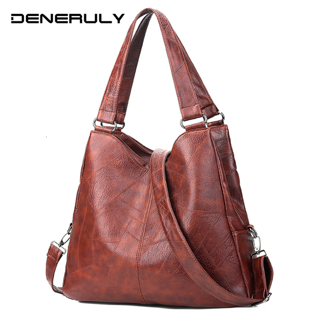 2019 Fashion Women Handbags High Quality Female Leather Shoulder Bags Vintage Solid Ladies Totes Bolso Mujer Ladies Hand Bags