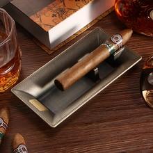 цена на Antique Style Zinc Alloy Ashtray Luxury Hotel Ornaments Home Desktop Decor Cigar Accessories