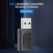 Mini 4in1 Bluetooth 5.0 Audio Receiver Transmitter Stereo Bluetooth 3.5mm Aux Cable For