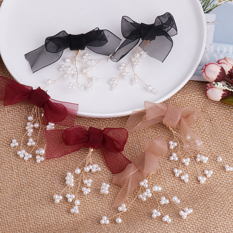 JURAN New Elegant Simulated Pearls Bow Earrings For Women Fashion Wedding Party Gift Drop Earrings Accessories Jewelry Wholesale