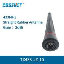 2 3dBi pc/lote 433MHz Omni Wi fi Antena De Alto Ganho SMA Macho TX433 JZ 10 433 mhz Omnidirecional antena de rádio fm