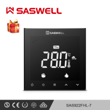 SASWELL WIFI thermostat controller for electric room floor heating  thermostat temperature for weekly programmable hy02b05 connect wifi enabled touchscreen programmable thermostat ac220v wifi temperature regulator for boilers