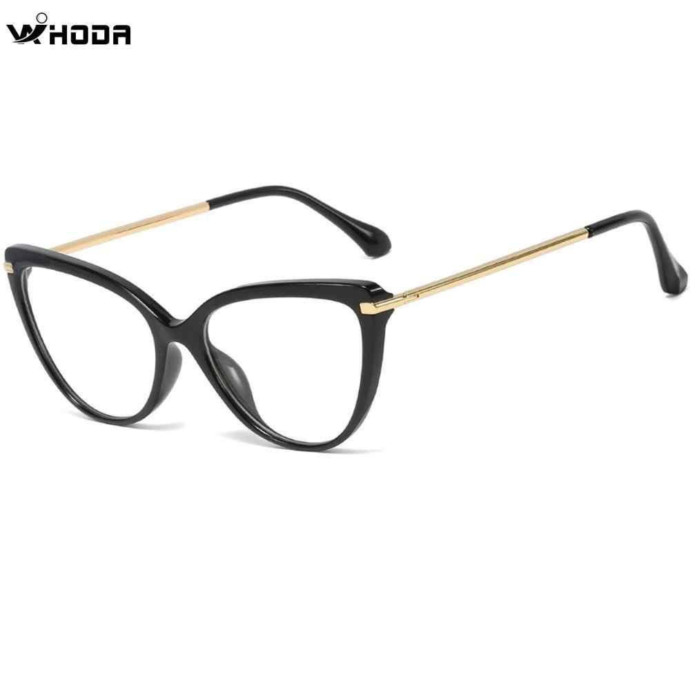 Retro feminino preto tr90 primavera dobradiça gato olhos óculos quadro, feminino mopia & presbiopia prescrição quadros de vidro óptico f0218