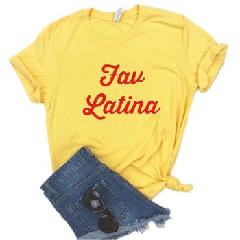 Camiseta estampada roja de algodón para mujer, camiseta informal divertida, regalo para señora Yong Girl s-996