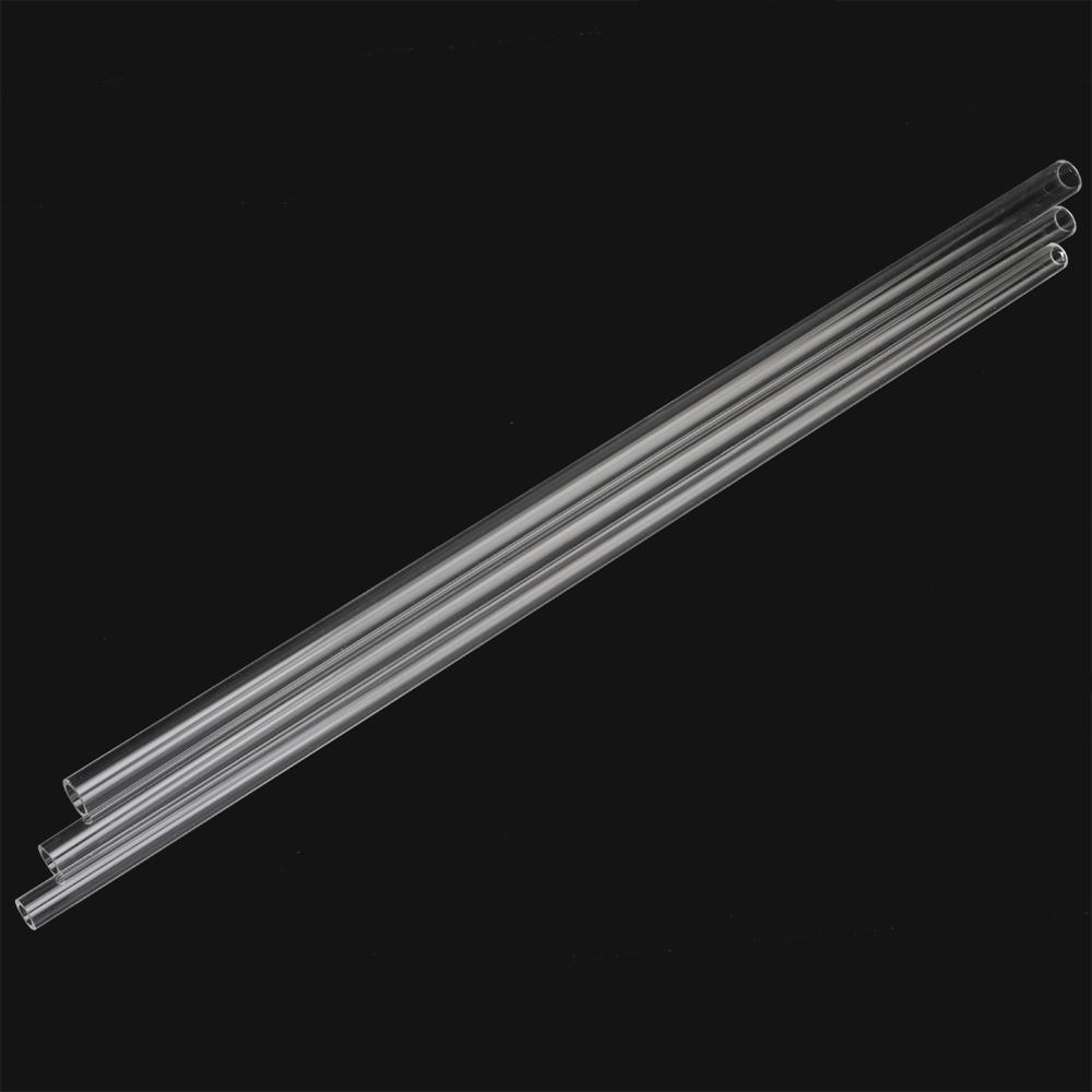 12/14/16mm Acrylic Pipe Length 48~50cm Highly Transparent Tube Fish Tank Aquarium Pipe Garden Irrigation Pipe Fittings 3Pc