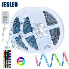 цена на LED Strip Light RGB 5050 Flexible Ribbon led Light Strip RGB Tape Diode DC 12V+ RF Remote Control +2 IN 1 Adapter Waterproof