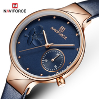NAVIFORCE Women Watches Fashion Casual Female Quartz Lady Waterproof Clock Wristwatches Watches Leather belt datereloj mujer