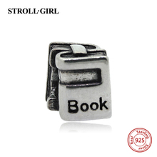 StrollGirl New Authentic 925 Sterling Silver 2016 book bead Fits pandora european Charms Bracelet DIY Jewelry