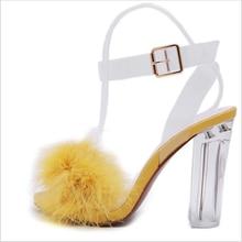 Женские босоножки на очень высоком каблуке; Летние толстом меху;