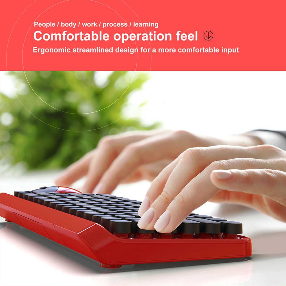 Gelée peigne 2.4G sans fil clavier et souris pour jeux bureau clavier et souris ensemble Portable USB clavier pour ordinateur Portable