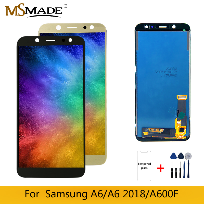 A600 Display For <font><b>Samsung</b></font> <font><b>Galaxy</b></font> A6 2018 <font><b>LCD</b></font> Display Touch <font><b>Screen</b></font> Digitizer Assembly Parts For <font><b>SAMSUNG</b></font> A6 A600F A600FN <font><b>LCD</b></font> <font><b>Screen</b></font> image