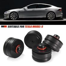 Lift-Point-Pad-Adapter Paint-Jack Model Tesla And 4pcs 3-Protects-Battery Fits Upgraded