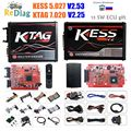 KESS 5.017 k-tag 7.020-jeton illimité | 4LED PCB rouge V7.020 SW2.25 KESS V2.53 V5.017 V2 Version ue  outil de programmation ECU