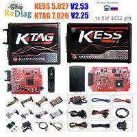 New 4LED Red PCB KTAG V7.020 SW2.25 KESS V2.53 V5.017 V2 EU Version ECU Programming Tool KESS 5.017 K-TAG 7.020 Unlimited Token