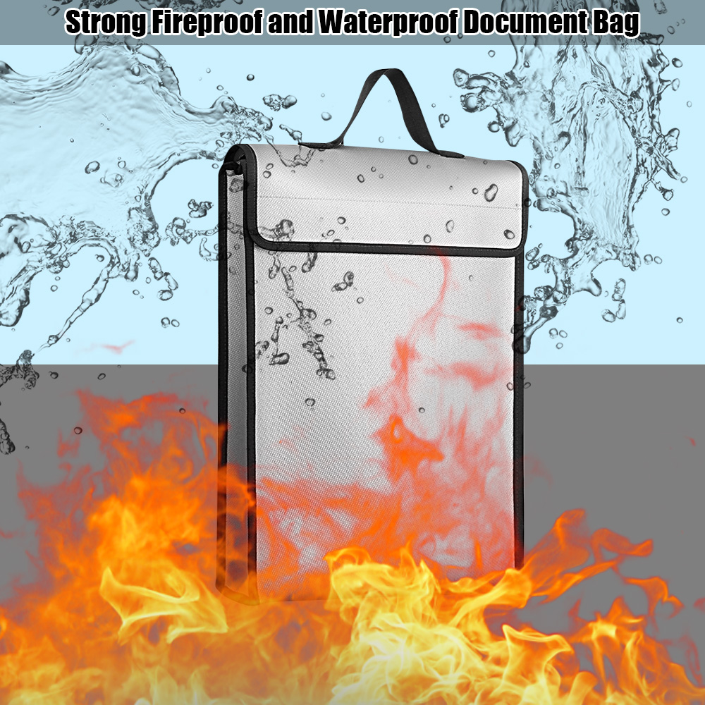 Image 5 - Fireproof Document Bags Waterproof Liquid Silicone Material Heat Insulation 1200℃ Fire Resistant Safe Bag for File Cash PassportFile Folder   -
