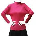 High Fashion Frühling Solide T Shirts Frauen Designer Langarm Falten T Shirt Weibliche Büro Arbeit Tragen Hemd Tops Elegante - 5